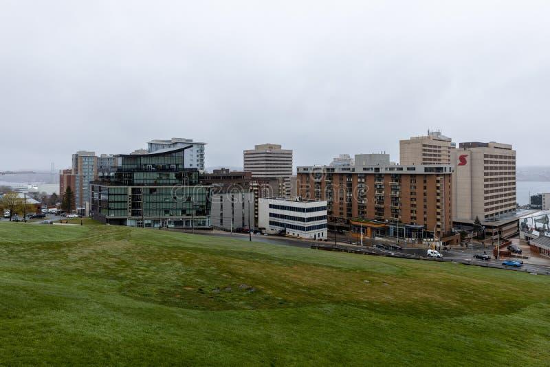 Ville et centre-ville de Halifax au Canada image libre de droits