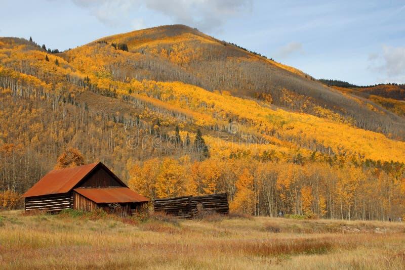 Ville fantôme d'Ashcroft, le Colorado images libres de droits
