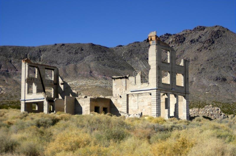Ville fantôme près de stationnement national de Death Valley images libres de droits