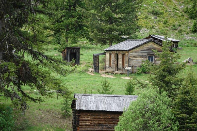 Ville fantôme - Garnet Montana photo stock