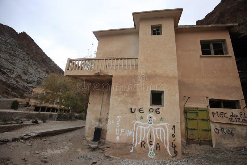 Ville française d'exploitation, montagnes d'atlas, Maroc photo libre de droits