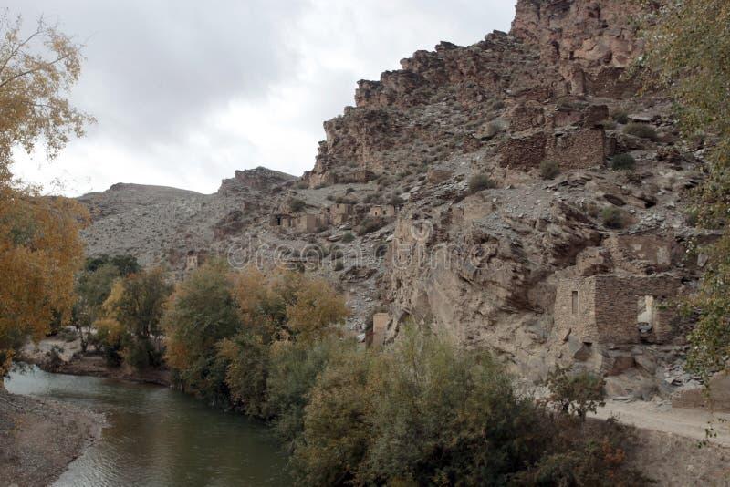 Ville française d'exploitation, montagnes d'atlas, Maroc images stock