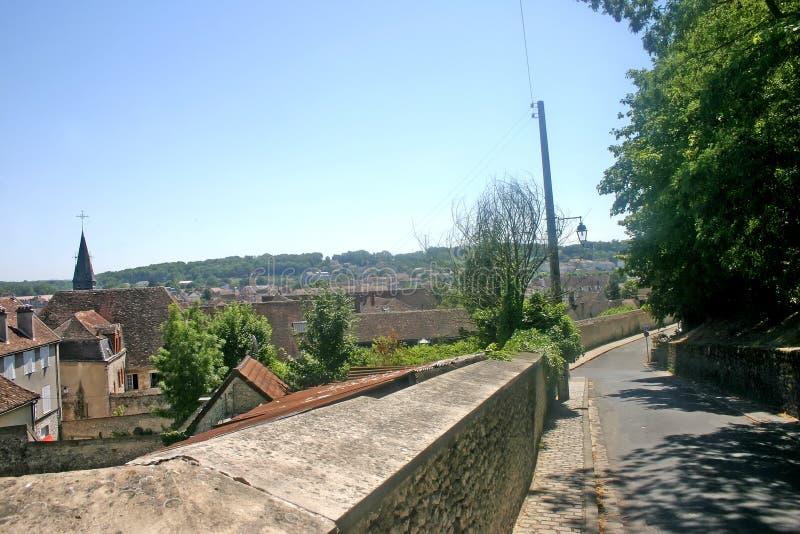 Ville française médiévale images libres de droits