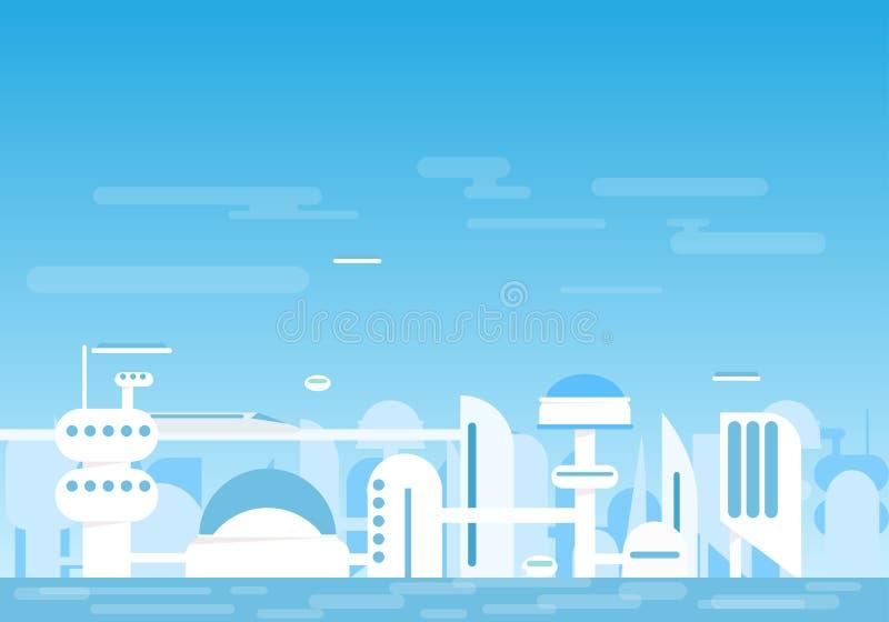 Ville futuriste illustration stock