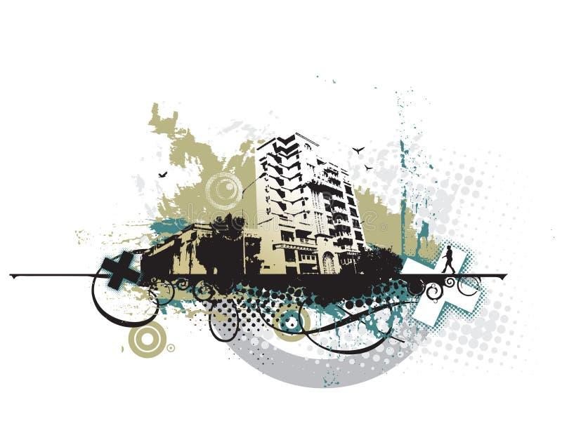 Ville grunge urbaine illustration stock