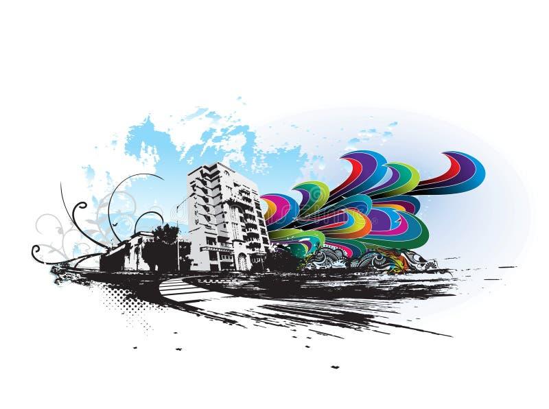 Ville grunge urbaine illustration libre de droits
