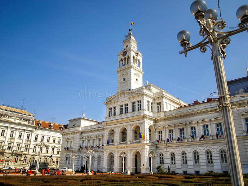Ville hôtel d'Arad, Roumanie photo stock