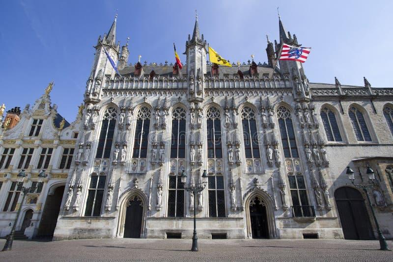 Ville hôtel de Bruges images stock