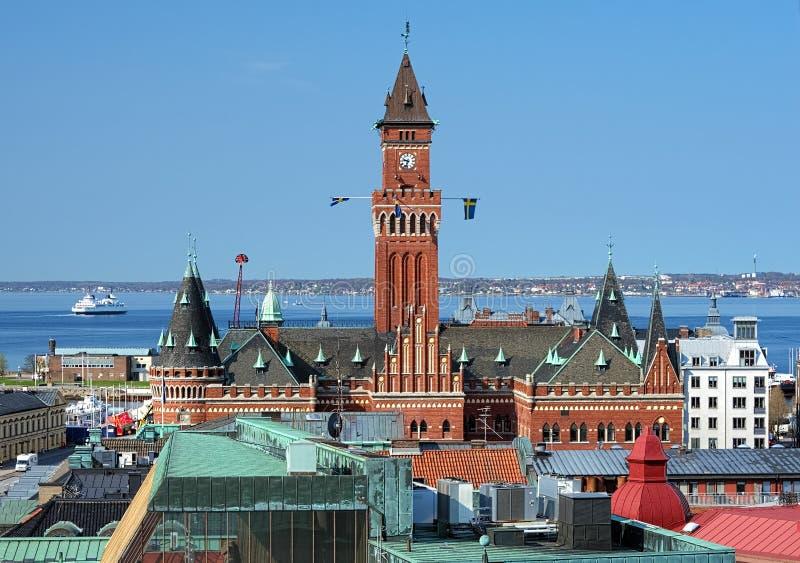 Ville hôtel de Helsingborg, Suède photos libres de droits