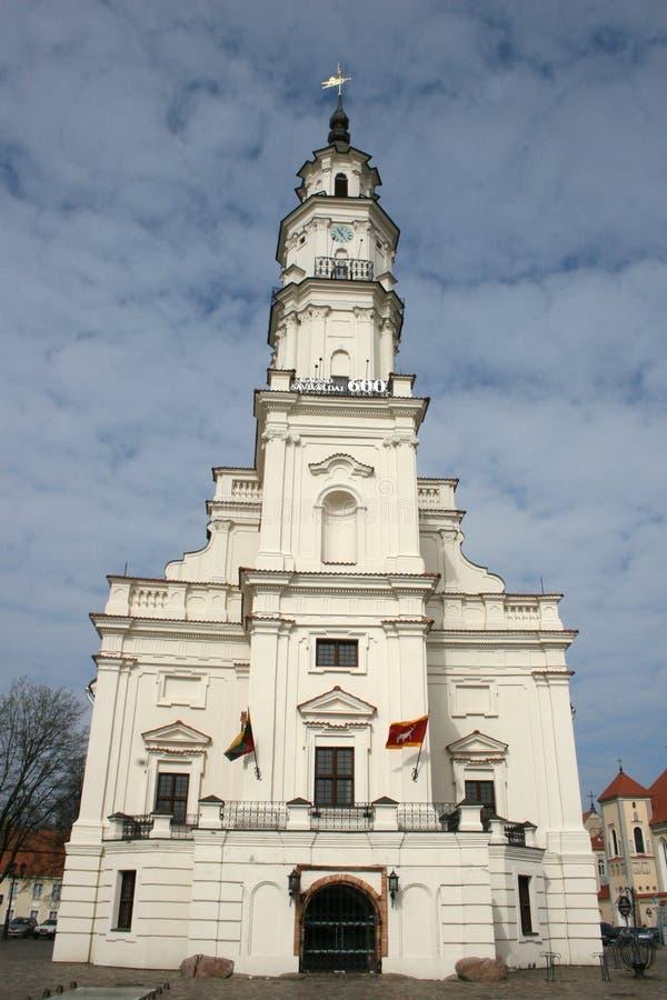 Ville hôtel de Kaunas images libres de droits