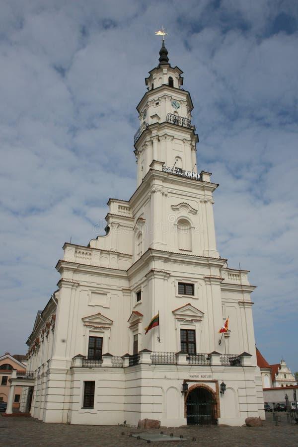 Ville hôtel de Kaunas photographie stock libre de droits