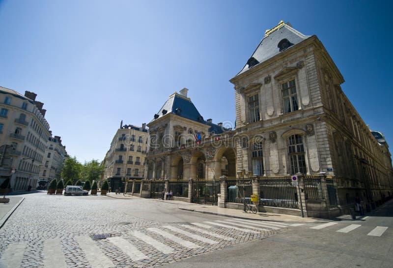 Ville hôtel de Lyon photo libre de droits