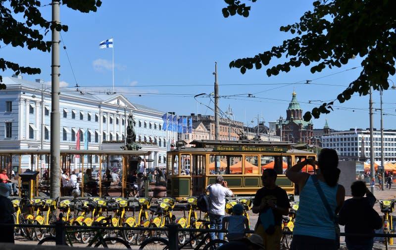 Ville hôtel de place du marché de Helsinki Finlande image libre de droits