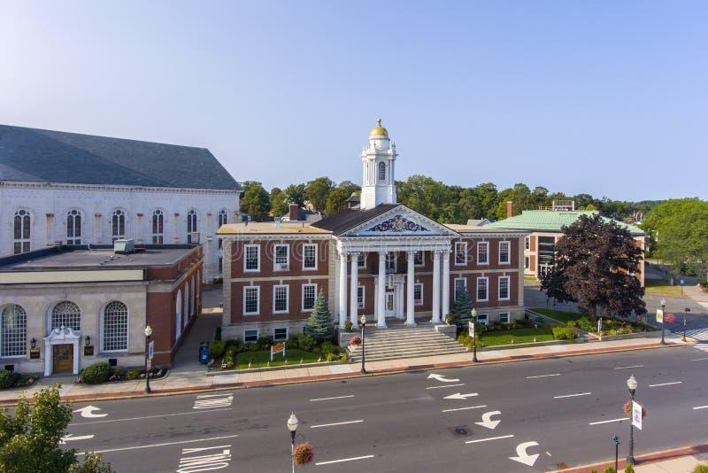 Ville hôtel, le Massachusetts, Etats-Unis de Woburn images stock