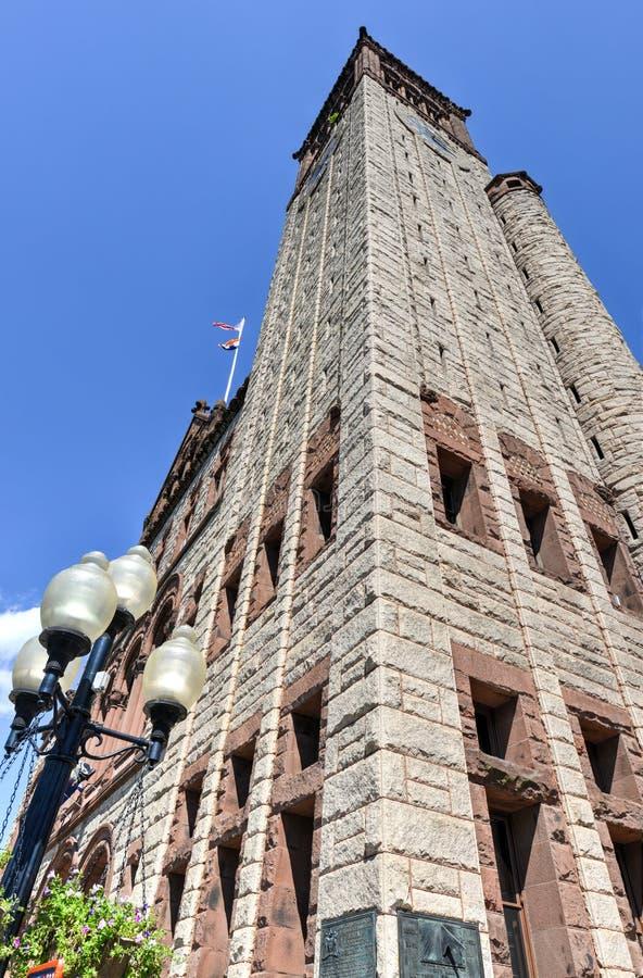 Ville hôtel d'Albany dans l'état de New-York image stock