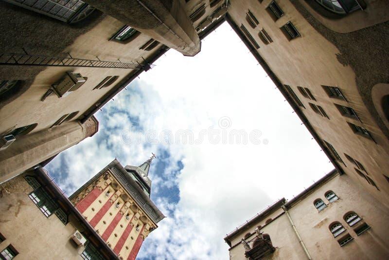 Ville hôtel dans Subotica images libres de droits