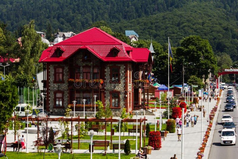 Ville hôtel de Busteni photos stock