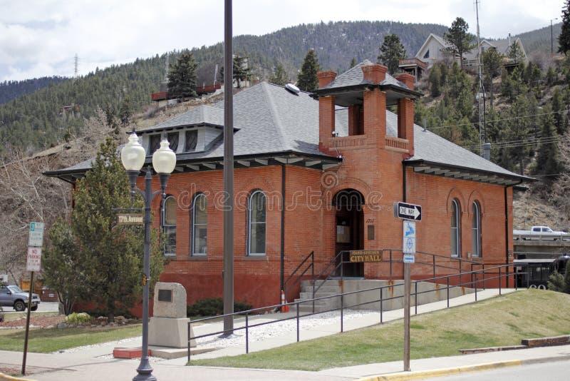 Ville hôtel de montagne du Colorado images libres de droits