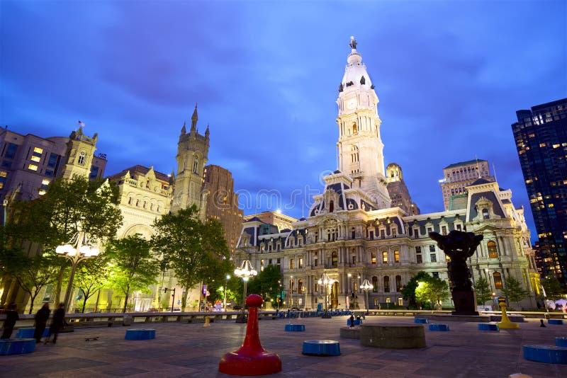 Ville hôtel de Philadelphie image libre de droits