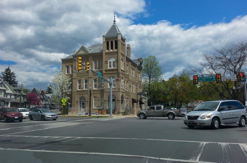 Ville Hall Bloomsburg Pennsylvania photographie stock