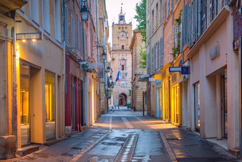 Ville Hall Clock Tower à Aix-en-Provence, France photos stock
