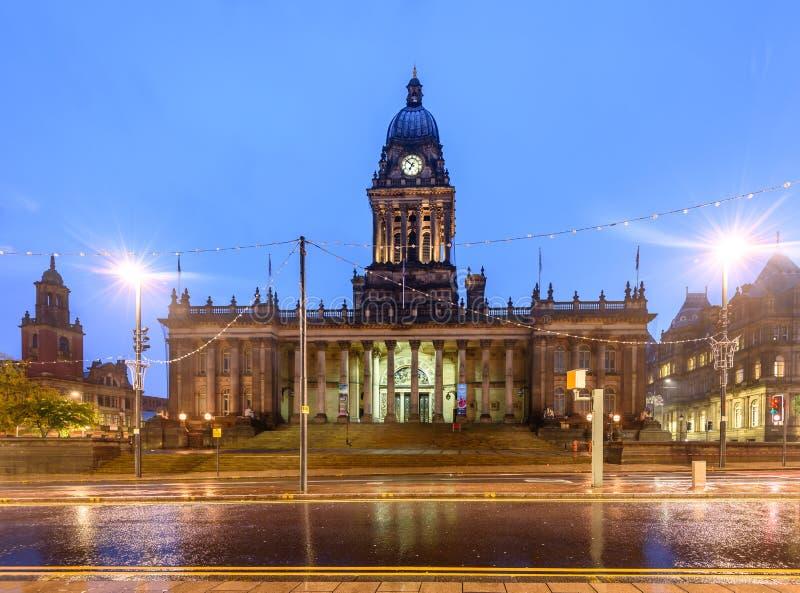 Ville Hall England de Leeds photo libre de droits