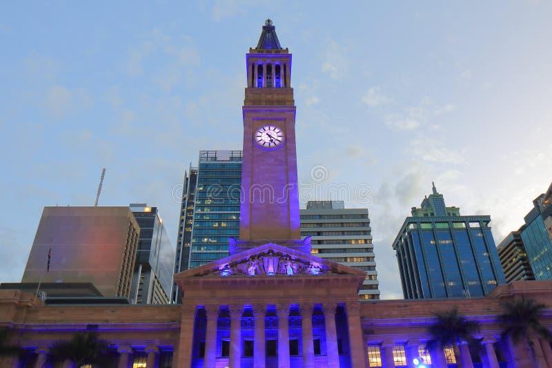 Ville Hall Museum d'Australie historique d'architecture de Brisbane photo libre de droits
