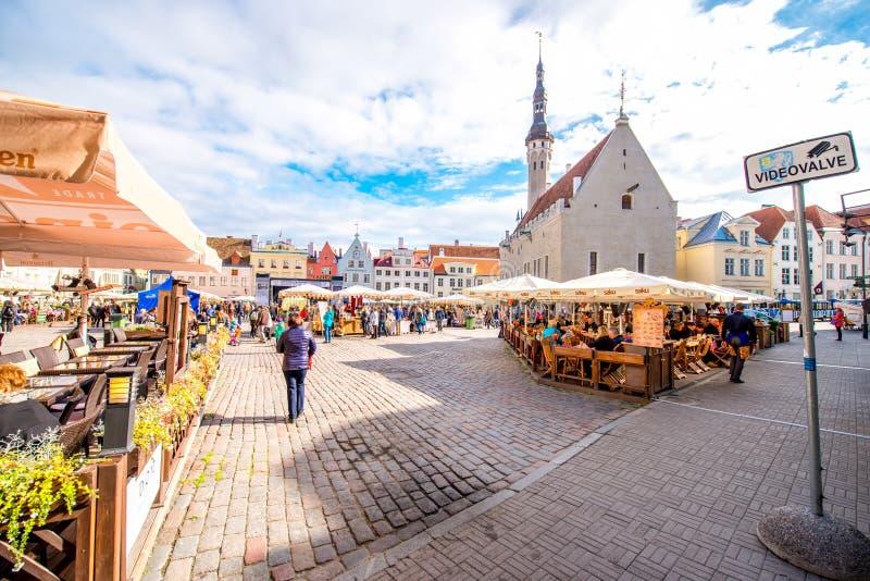 Ville Hall Square à Tallinn photographie stock libre de droits