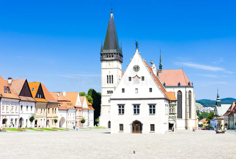 Ville Hall Square, Bardejov, Slovaquie photographie stock