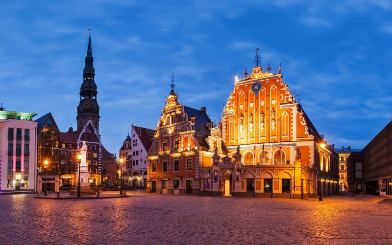 Ville Hall Square de Riga de panorama avec la Chambre du image libre de droits