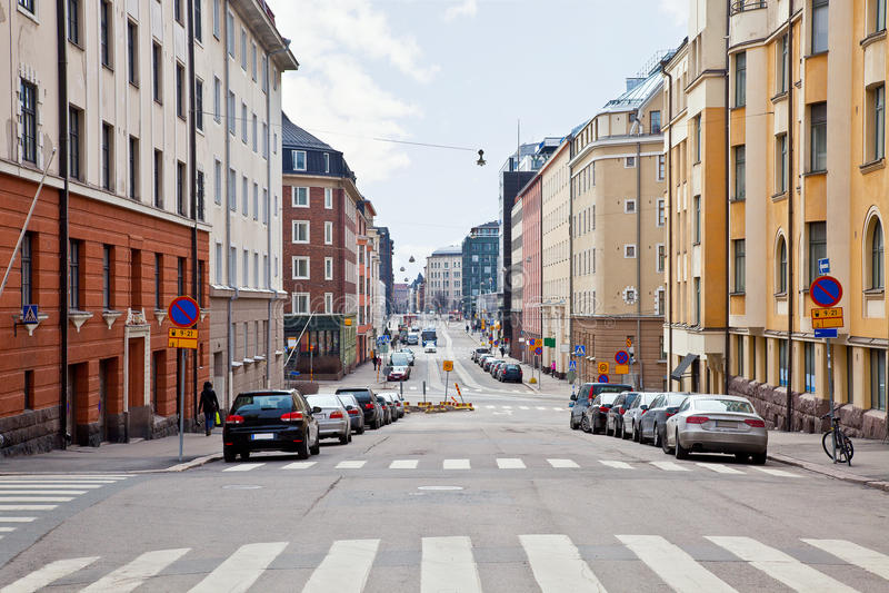 Ville Helsinki. Paysage urbain photographie stock