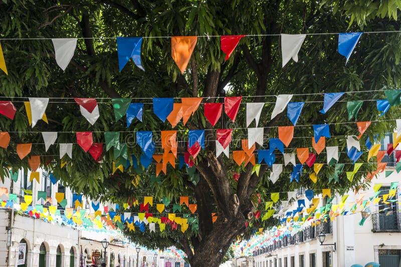 Ville historique de sao Luis, état de Maranhao, Brésil photographie stock