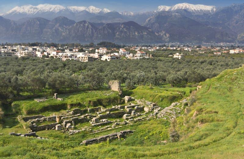 Ville historique de Sparta en Grèce photo stock
