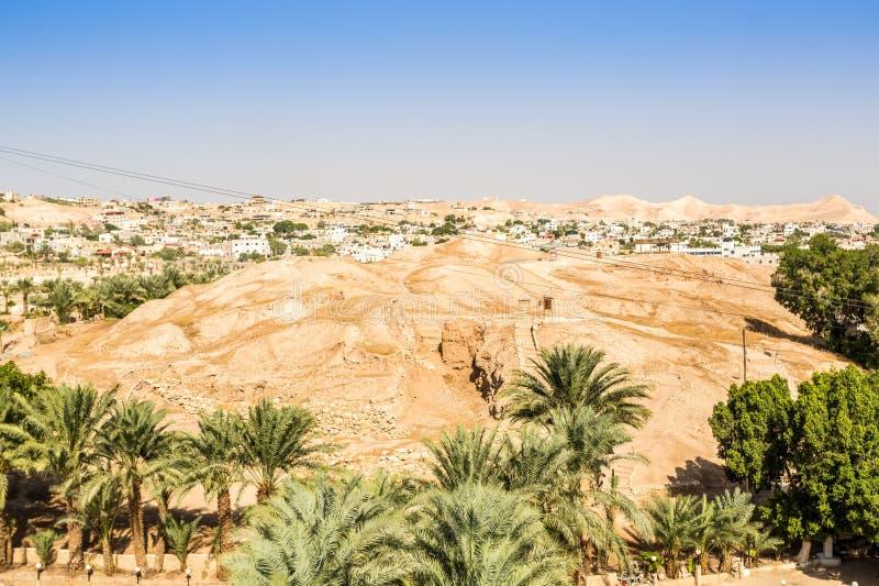 Ville historique et moderne de Jéricho, Palestine photos libres de droits