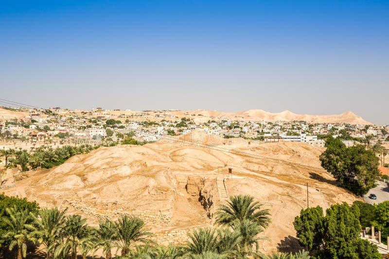 Ville historique et moderne de Jéricho, Palestine image stock