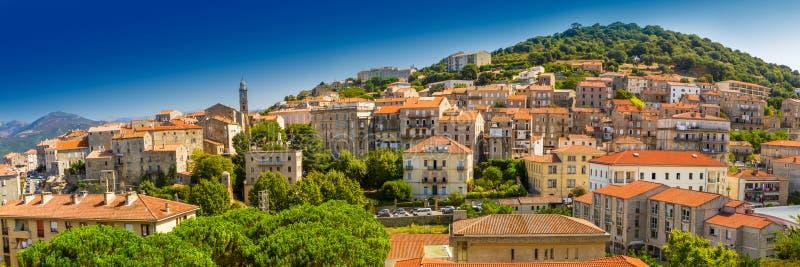 Ville historique Sartene, Corse, France, l'Europe image stock