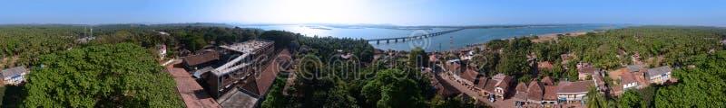 Ville indienne côtière typique photographie stock libre de droits