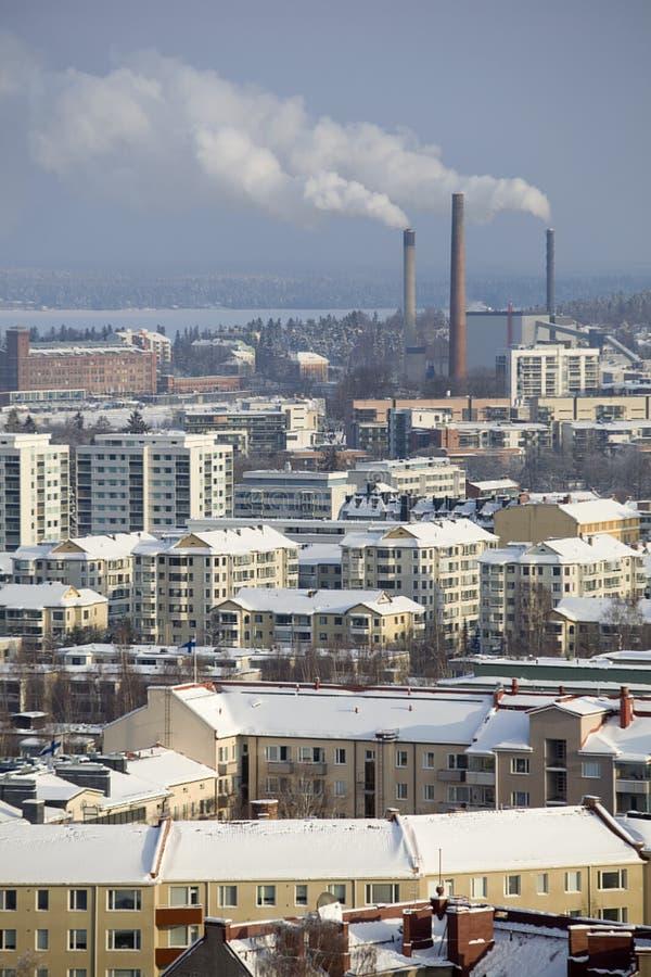 Ville industrielle en hiver photos libres de droits