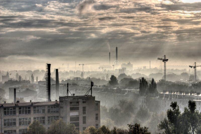 Ville industrielle - Moonscape photos libres de droits