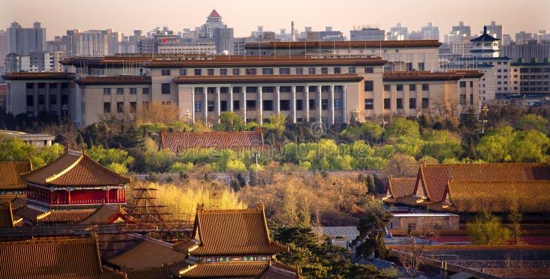 Ville interdite grande Pékin Chine de hall photos stock