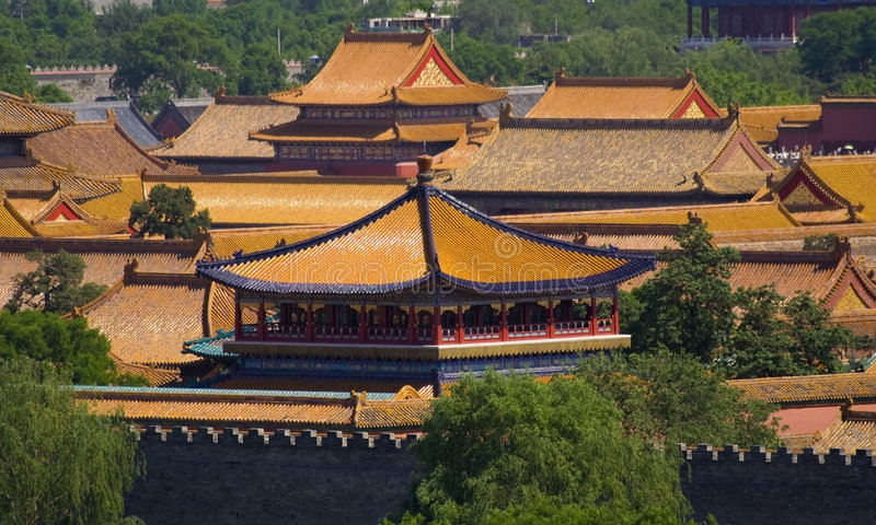 Ville interdite, le palais de l'empereur, Pékin, Chine photos libres de droits