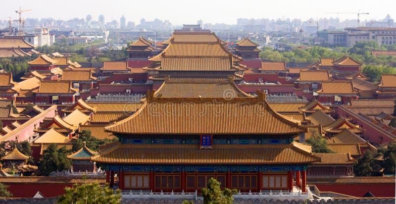 Ville interdite, le palais de l'empereur, Pékin, Chine images stock