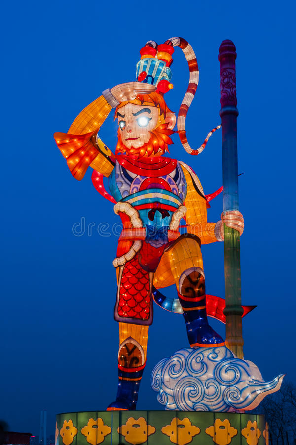 Ville 2016 internationale de carnaval de lanterne magique de Changhaï de lumière photo stock