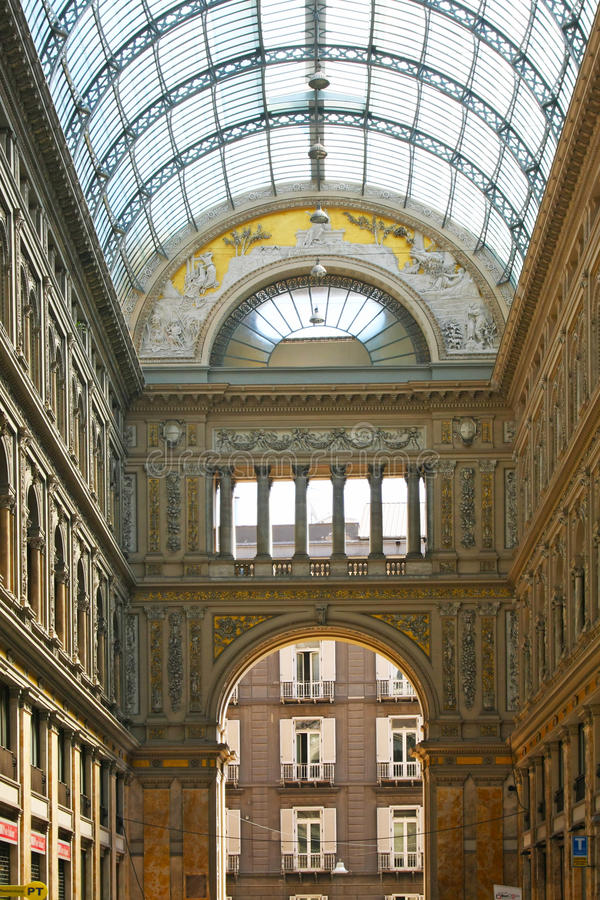 Ville italienne Naples, Galleria Umberto photos libres de droits