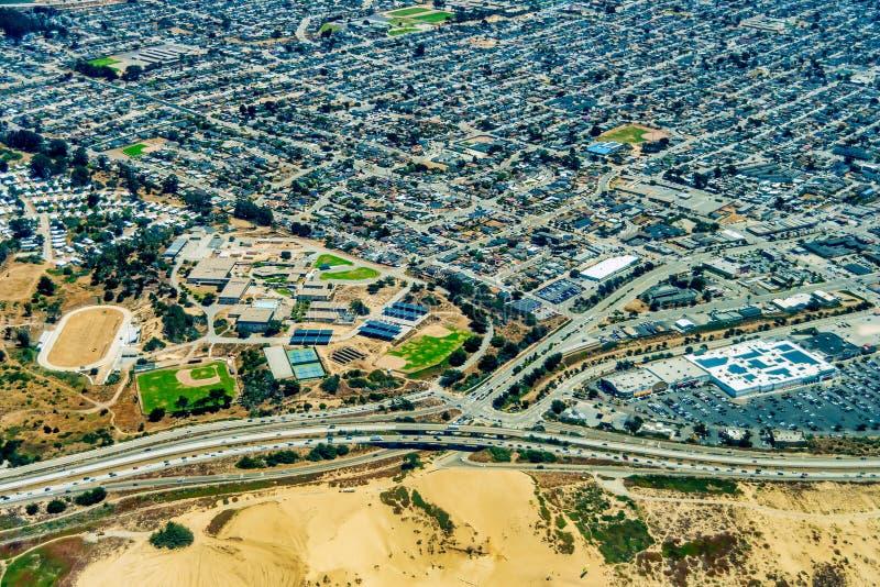 Ville la Californie de sable image libre de droits