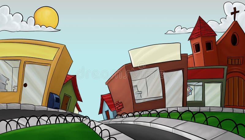 Ville latérale du comté illustration de vecteur