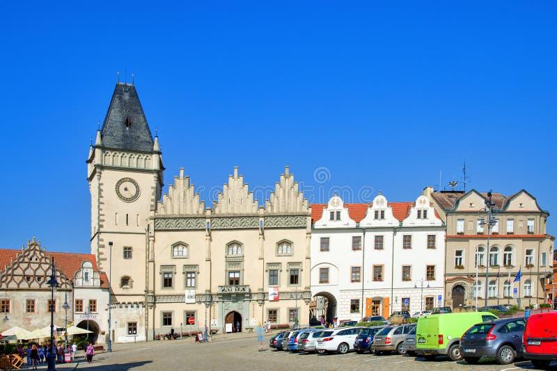 Ville le Thabor, place de Zizka images libres de droits