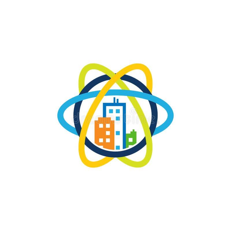 Ville Logo Icon Design de la Science illustration stock