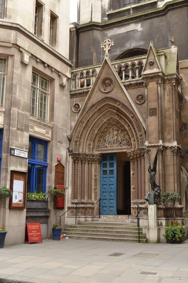 Ville Londres d'église de St Michael Cornhill photographie stock libre de droits