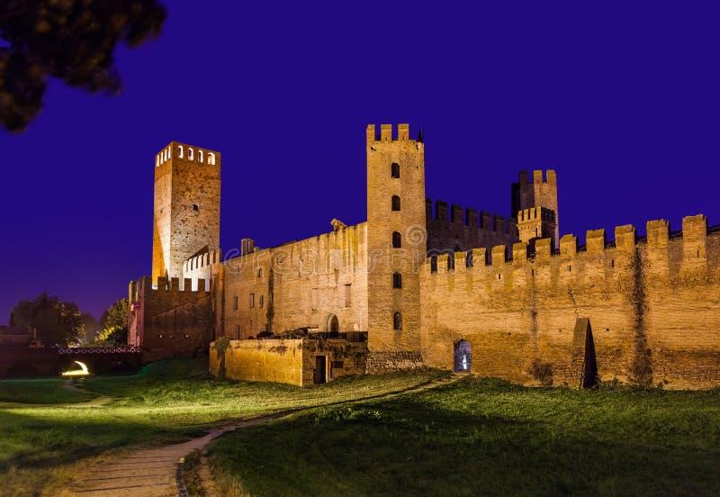 Ville médiévale de Montagnana en Italie photos stock